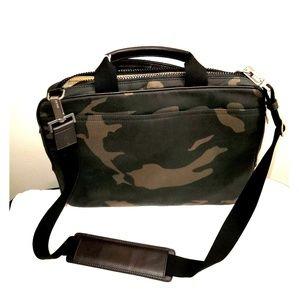Jack Spade Camo Waxwear Brief Laptop Shoulder bag
